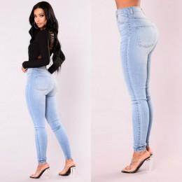 ITFABS nowości moda Hot kobiety Lady Denim spodnie obcisłe wysokiej talii Jeansy ze streczem Slim dżinsy rurki kobiety dżinsy
