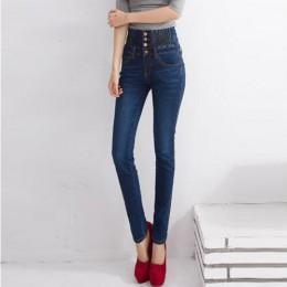 2019 dżinsy kobiet wysokiej talii elastyczne Skinny Denim długie spodnie ołówkowe Plus rozmiar 40 kobieta dżinsy Camisa Feminina