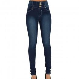 Litthing 2019 wiosna jesień kobiety Skinny Denim lekki ołówek spodnie Jeansy ze streczem wysoka talia Slim przycisk kieszenie sp