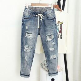 Lato zgrywanie Boyfriend Jeans dla kobiet moda luźne rocznika wysokiej talii dżinsy Plus Size dżinsy 5XL Pantalones Mujer Vaquer