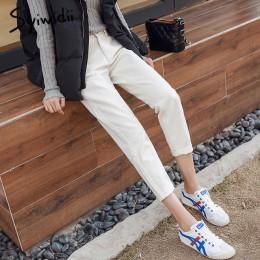 Bawełna biały dżinsy kobieta wysoka talia skinny jeans kobieta plus rozmiar mama dżinsy czarny 2019 wiosna nowy beżowy niebieski