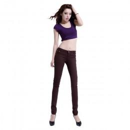 Cała bawełna siedem kolorów pinkycolor elastyczna siła ołówek spodnie wysokiej talii dżinsy kobieta dopasowane dżinsy damskie mu