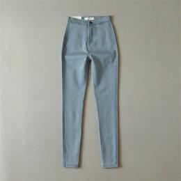 Wysokiej talii dżinsy dla kobiet na co dzień Stretch jesień Denim ołówek spodnie Lady Slim elastyczne spodnie jeansowe wiosna sp