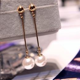 Koreański Gwiazda Samego Ust Moda Imitacja Pearl Tassel Kolczyki Hurtownie Biżuteria Kolczyki Kobiet Odcinek Rocznika