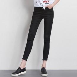 LEIJIJEANS moda jesień legginsy niebieski S 6XL kobieta w połowie talii Plus Size kobiety wysokiej elastyczna pełna długość spod