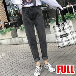 Streamgirl damskie dżinsy Boyfriend Jeans dla kobiet luźne spodnie Harem dżinsy kobieta wysoka talia 2019 czarny Jean Femme spod