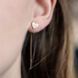1 para Miłość Serce Długi Stadniny Ucha Kolczyki Biżuteria Moda Tassel Dynda Kolczyki Dla Kobiet #228821