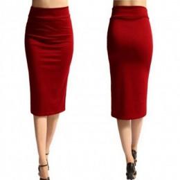 2018 nowych kobiet spódnica Mini obcisła spódnica biuro kobiety Slim kolan długość wysokiej talii Stretch Sexy spódnice ołówkowe