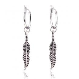 GEOMEE 1 Pair Bohemia Vintage Earing Zwisają Feather Liście Wisiorek Liści Spadek Kolczyki dla Kobiet Biżuteria Brincos Pendient