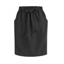 2019 nowa wiosna lato eleganckie spódnice Midi kobiet biuro spódnica ołówkowa bawełna elastyczna talia pakiet Hip spódnica spódn