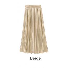 Wypróbuj drzewo lato jesień plisowana spódnica kobiet w stylu Vintage wysoka spódniczka z wysokim stanem stałe długie spódnice N
