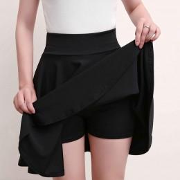 Surmiitro Plus rozmiar 4XL spodenki spódnice damskie 2019 lato linia Sun szkoła wysokiej talii plisowana spódnica kobiet koreańs