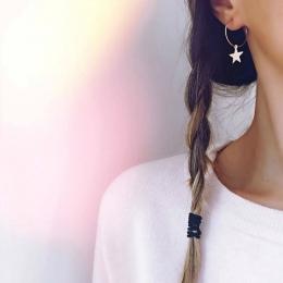 Nowe Kolczyki Popularne Mody Osobowości Proste Pentagram Ucha Pierścień Akcesoria Kobiece Hurtowa I Handlu zagranicznego