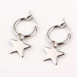 Europejskie Kompletne Koło Hoop Kolczyki Handmade Srebrny Złoty Kolor Proste Gwiazda Kolczyk Dla Kobiety Mężczyźni Chic Bijoux B