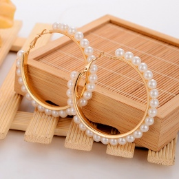 MINHIN Piękna Biała Perła Dekoracji Hoop Kolczyki Dla Dziewczyny Specjalne Akcesoria Ślubne Biżuteria Hurtowych Na Dziewczynę