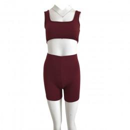 HAOYUAN 2 sztuka zestaw kobiet festiwal odzież Crop Top spodenki w dresy Sexy klub stroje dwuczęściowy dres pasujące zestawy