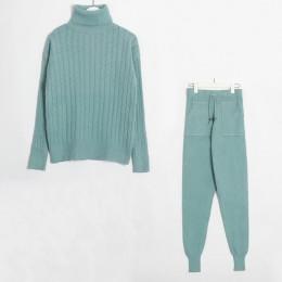 WIXRA swetry damskie 2018 jesień zima kobiet z golfem na co dzień luźne damskie swetry z dzianiny swetry odzież damska