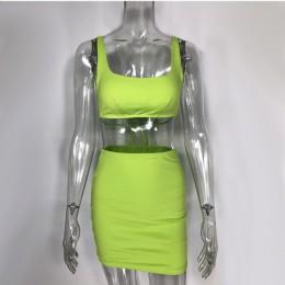 2 warstwy dwuczęściowy zestaw 2 częściowy zestaw kobiet krótki top i spódnica zestaw dwuczęściowe stroje pasujące zestawy odzież