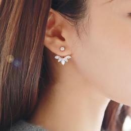 2018 Nowy Cyrkon Kryształ Ear Cuff Klip Liścia Stadniny Kolczyki Dla Kobiet Kurtki Piercing Kolczyki Biżuterii Brincos
