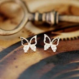 2016 moda biżuteria proste i eleganckie dzikie osobowości kobiet motyl kolczyki darmowa wysyłka Ear Biżuteria