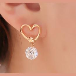 AAA + Proste Nowy Projekt Rhinestone Krystaliczna Srebrny Stadniny Kolczyki Piercing Uszu Szpilki dla Kobiet Wedding Party Preze