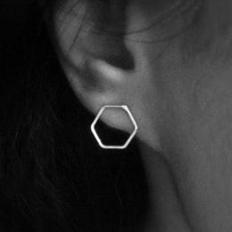 Proste Koreański Kreatywny Geometryczne Hexagon Stadniny Kolczyki dla Kobiet Małe Ucho Stadniny Orki Brincos Ear Biżuteria Dziew