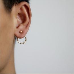 Osobowość Super StudsEarrings Kręgi Dla Kobiety Moda Złoto Srebro kolor Biżuteria Trendy Komunikat Kolczyki Bijoux