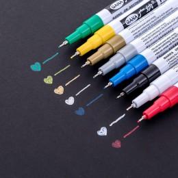 1 sztuk metalowe Marker 8 kolory dla wybierz 0.7mm Extra Fine punkt Marker do malowania nietoksyczny Marker permanentny DIY Mark