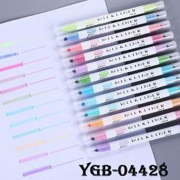 Uczniowie Mildliner zakreślacze marker do malowania wyróżnienia pędzelki pastelowe markery akwarela fluorescencyjny długopis rys