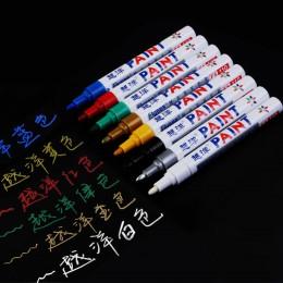 12 kolorów wodoodporna opona samochodowa bieżnik opony CD Metal permanentny Marker do malowania Graffti tłustej Marker Macador C