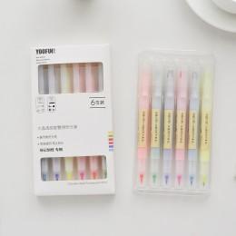 6 sztuk/zestaw kryształowe pokój szef zakreślacze cukierki kolor 6 kolory rysunek pisaki upominek promocyjny papiernicze artykuł