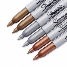 Sharpie 1.0mm srebrny złoty brąz drobny punkt oleju metalowe markery permanentne napisać na jasne i ciemne papieru powierzchniow