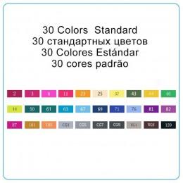 TOUCHNEW 30/40/60/80 kolory Art markery markery na bazie alkoholu pióro do rysowania zestaw Manga Dual Headed sztuki szkic Marke