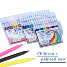 Szkoły dzieci wysokiej jakości kolor długopisy marker do malowania akwarela długopisy szczotki zestaw do rysowania kolorowe mark