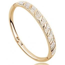 Darmowa wysyłka najwyższej jakości AAAA + Koło Rhinestone Bransoletka Mankiet Bangl kryształ moda biżuteria charms dziewczyny ak