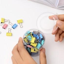 60 sztuk/partia metalowe spinacze do papieru 15mm kolorowe cukierki kolor klip do książki papiernicze artykuły szkolne materiały