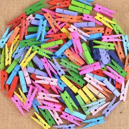 50 sztuk Mini kolorowe klamerka artykuły biurowe zdjęcie Memo Peg Pin DIY Craft pocztówka dekoracji długość 2.5 cm