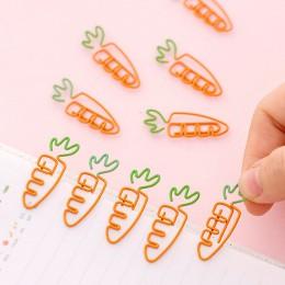 5 sztuk/partia kreatywny Kawaii marchewka w kształcie metalowa zakładka spinacz do papieru papiernicze szkolne materiały biurowe