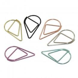 60 sztuk 6 kolory materiał metalowy upuść kształt spinacze do papieru śmieszne Kawaii zakładki biurowe szkolne biurowe klipy do
