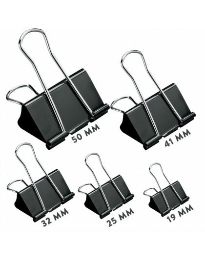 Buldog Foldback klipy 51 41 32 25 19 mm rozmiar Metal Binder uchwyt klipy akcesoria biurowe