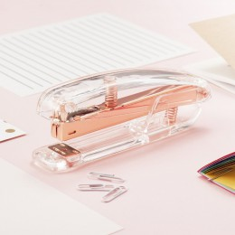 Różowe złoto zszywacz Edition metalowy, instrukcja zszywacze 24/6 26/6 zawierać 100 zszywki akcesoria biurowe szkolne artykuły b