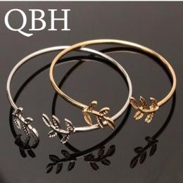 L163 Nowy Pulseiras Mężczyzn Bijoux Miłość Liście Otwórz Charm Mankietów Bransoletki i Bangles dla Kobiet Biżuteria Ślubna Dziew