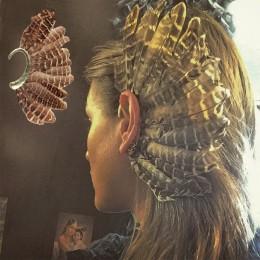 Moda wielkie pióro Leopard Ear Cuff złote klipsy dla kobiet mężczyzn ślub bez Piercing Party biżuteria Bijoux Za kolczyki