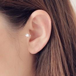 Nowy śliczne koreański styl AAA Cezch cyrkon mały gwiazdą nie Piercing klip kolczyk Ear Cuff Tragus kolczyki 2018 Femme Bijoux b