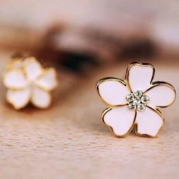 JIOFREE Korea styl kwiat kształt emalia klip na kolczyki bez przekłuwania dla dziewczyny Party śliczne piękny bez otworu klip do