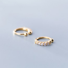 Trustdavis 100% 925 Sterling Silver Shining CZ Ear Cuff nausznice dla kobiet dziewczyna bez kolczyków biżuteria DA372