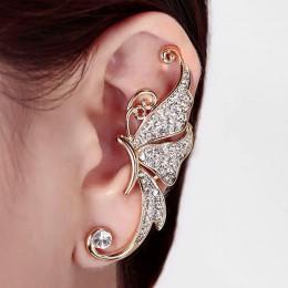 Gothic DIY czarny nietoperz w kształcie ucha spinki do włosów dla kobiet dziewczyny Punk smok wąż motyl Ax kolczyki w stylu Vint