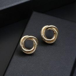 Gorąca sprzedaż ZA metalowe Maxi komunikat w stylu Vintage klip na kolczyki bez Piercing dla kobiet moda kolczyki Party prezent