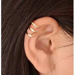 Modna artystyczna biżuteria damska kolczyki nauszne klipsy kolor srebrne złote czarne sztuczna perła