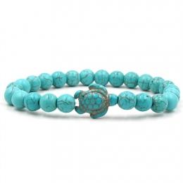 Lato Style Żółw Morski Koraliki Bransoletki Dla Kobiet Mężczyzn Klasyczne 14 kolory Kamień Naturalny Elastyczna Bransoletka Przy